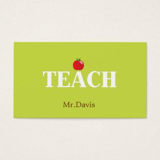 Tarjeta de visita del profesor