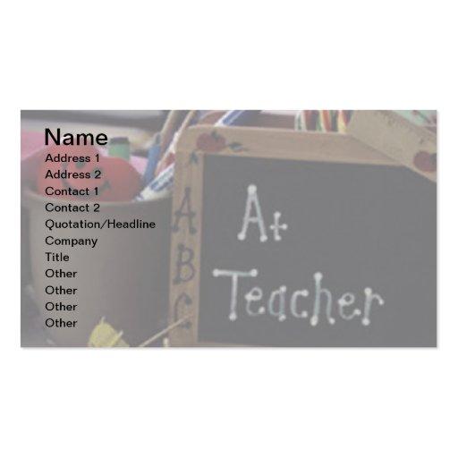 Tarjeta de visita del profesor #1