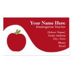 Tarjeta de visita del profesor - Apple rojo