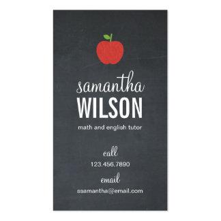 Tarjeta de visita del profesor de Apple de la piza