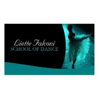 Tarjeta de visita del profesor de la danza