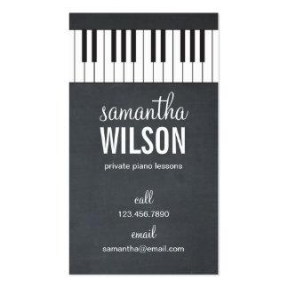 Tarjeta de visita del profesor de piano