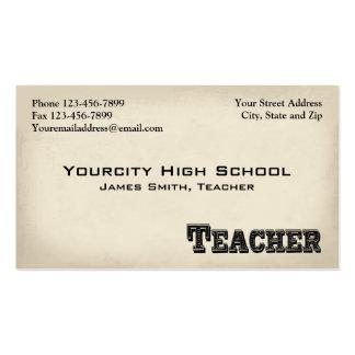Tarjeta de visita del profesor del educador de la