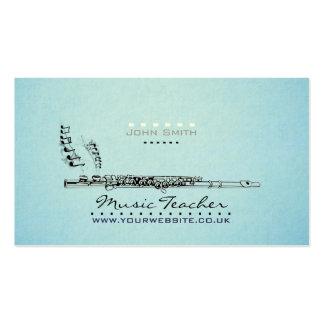 tarjeta de visita del profesor del músico/de músic