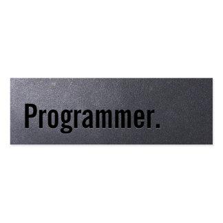 Tarjeta de visita del programador del negro de car