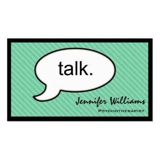 Tarjeta de visita del psicoterapeuta de la charla