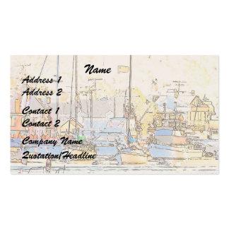 Tarjeta de visita del puerto/de los veleros