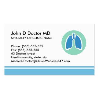 Tarjeta de visita del pulmonologist del Pulmonolog