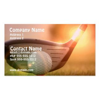Tarjeta de visita del Putter del golf