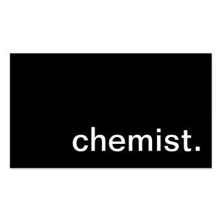 Tarjeta de visita del químico