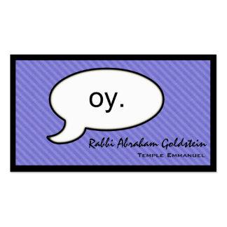 Tarjeta de visita del rabino de Oy de la nube del