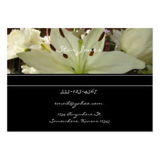 Tarjeta de visita del ramo floral