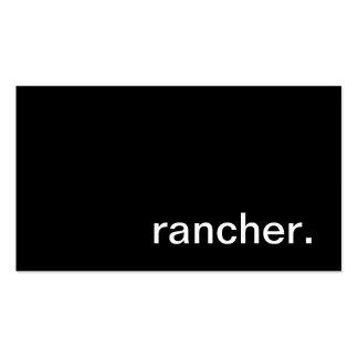 Tarjeta de visita del ranchero