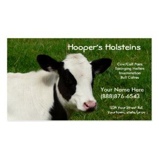 Tarjeta de visita del rancho de ganado de la leche