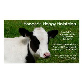 Tarjeta de visita del rancho de ganado de la vaca