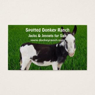 Tarjeta de visita del rancho del burro