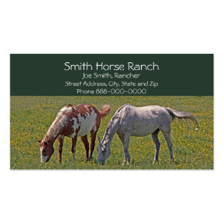 Tarjeta de visita del rancho del caballo