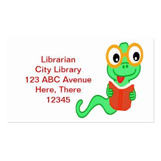 Tarjeta de visita del ratón de biblioteca del bibl