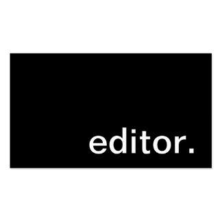 Tarjeta de visita del redactor