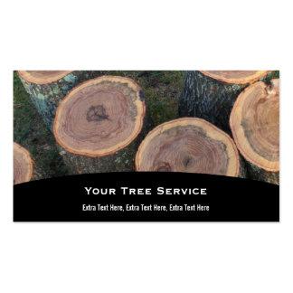 Tarjeta de visita del registro del árbol