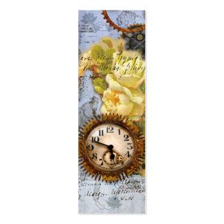 Tarjeta de visita del reloj de bolsillo de la máqu