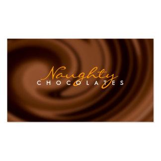 Tarjeta de visita del remolino del chocolate