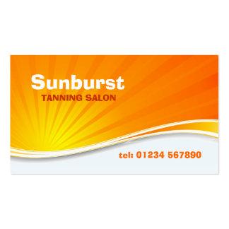 Tarjeta de visita del resplandor solar