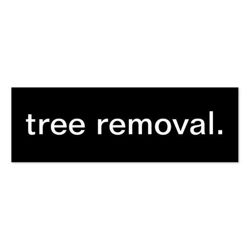 Tarjeta de visita del retiro del árbol