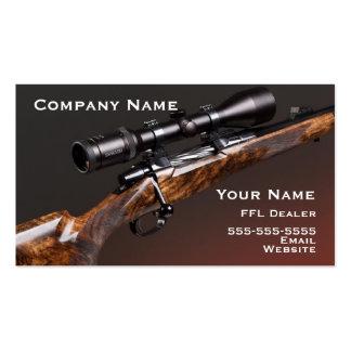 Tarjeta de visita del rifle de la caza