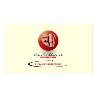 Tarjeta de visita del ritmo cardíaco (versión roja