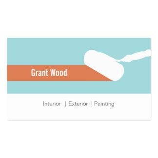 Tarjeta de visita del rodillo de pintura
