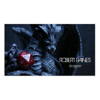 Tarjeta de visita del roleplay del RPG del dragón