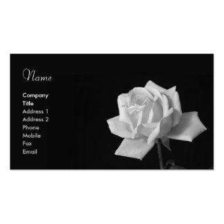 Tarjeta de visita del rosa negro y blanco