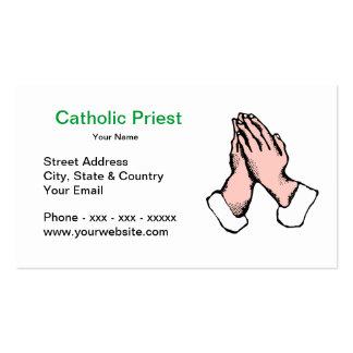Tarjeta de visita del sacerdote católico