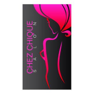 Tarjeta de visita del salón de Chez Chique