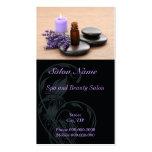 Tarjeta de visita del salón de la salud del masaje