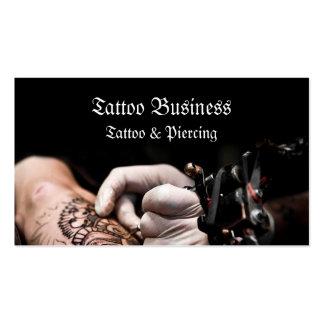 Tarjeta de visita del salón del artista del tatuaj