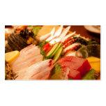 Tarjeta de visita del Sashimi de Japón