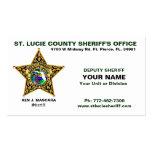 Tarjeta de visita del sheriff del condado de Sta.