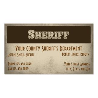 Tarjeta de visita del sheriff