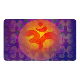 tarjeta de visita del símbolo del aum de OM