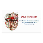 tarjeta de visita del sistema de la sangre del cor