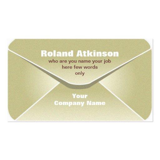 tarjeta de visita del sobre