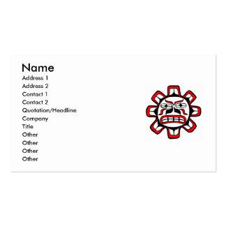 Tarjeta de visita del sol del Haida
