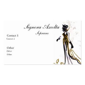 Tarjeta de visita del soprano