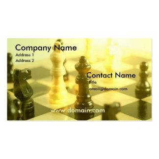 Tarjeta de visita del tablero de ajedrez