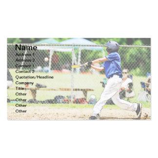 tarjeta de visita del talud del béisbol de la liga