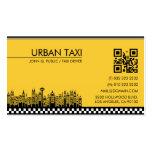 Tarjeta de visita del taxista del conductor de tax