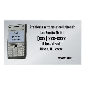 Tarjeta de visita del teléfono celular