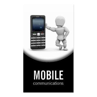 Tarjeta de visita del teléfono móvil